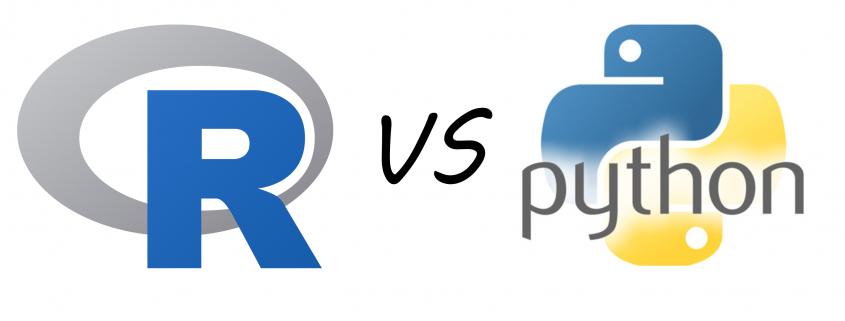 R versus Python Logo